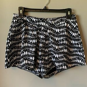 🐶 Very J Lined Black Lace & White  Lined Shorts